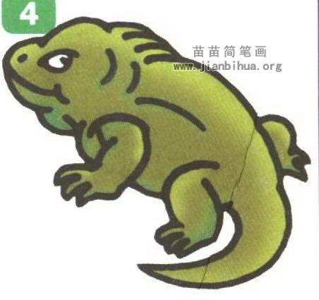蜥蜴简笔画
